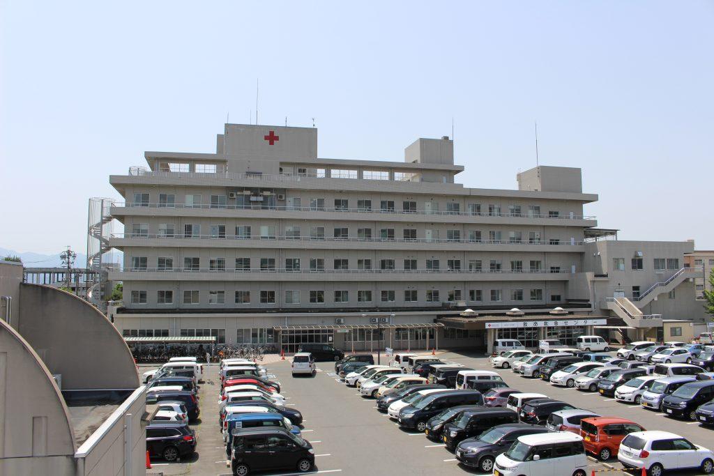 現在の長野赤十字病院の外観