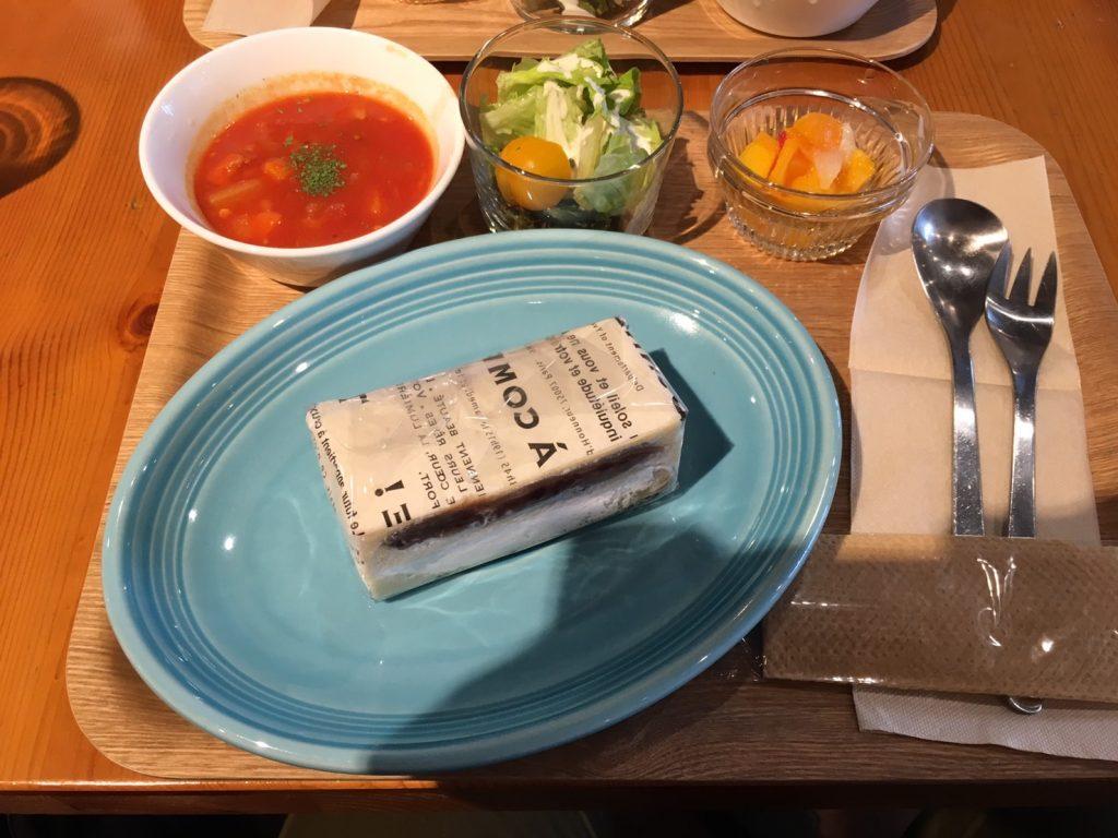 大福餅のサンドイッチセットの画像
