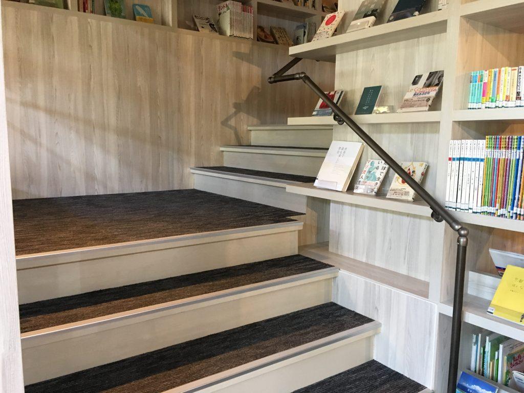 コトリの湯の2Fへ上がる階段の写真