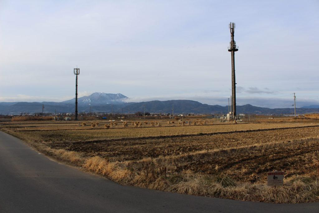 須坂市のイオンモール計画地の田園風景の写真