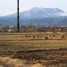 須坂長野東インター近くのイオンモール計画地の2020年冬の様子
