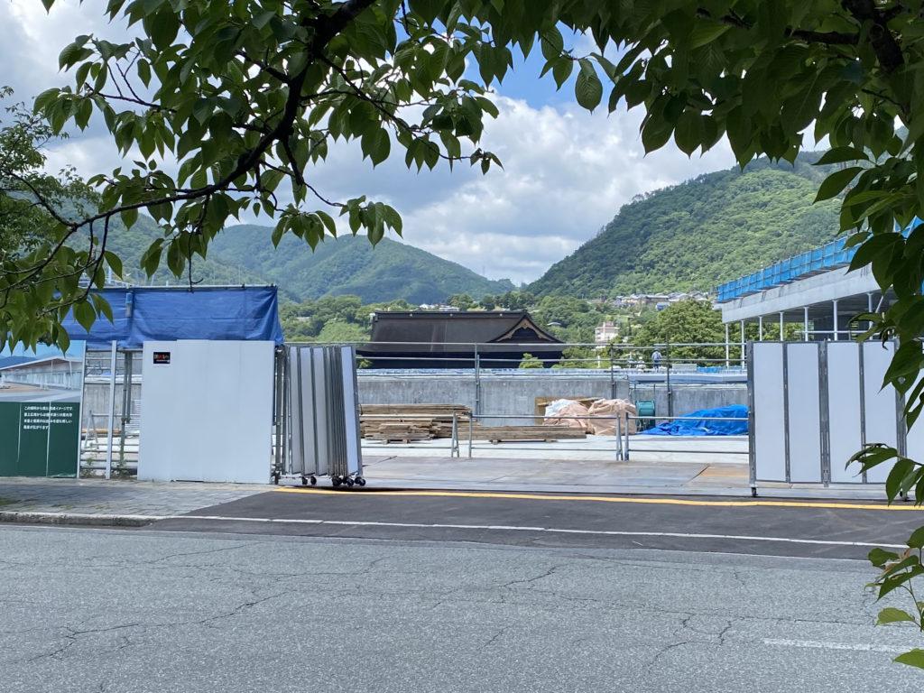 信濃美術館の建設現場の写真2