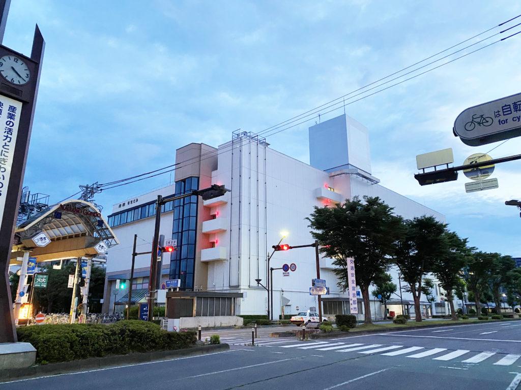 イトーヨーカドー長野店の入居していた長電権堂駅前ビルの風景写真
