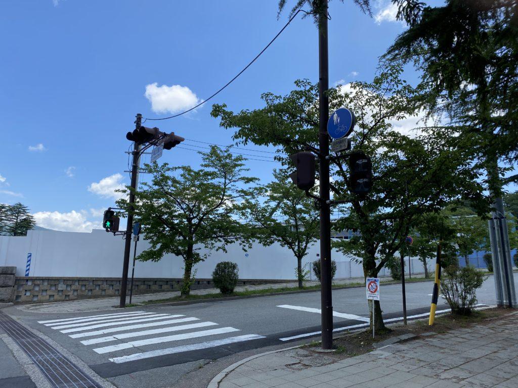 信濃美術館の建設現場の写真5