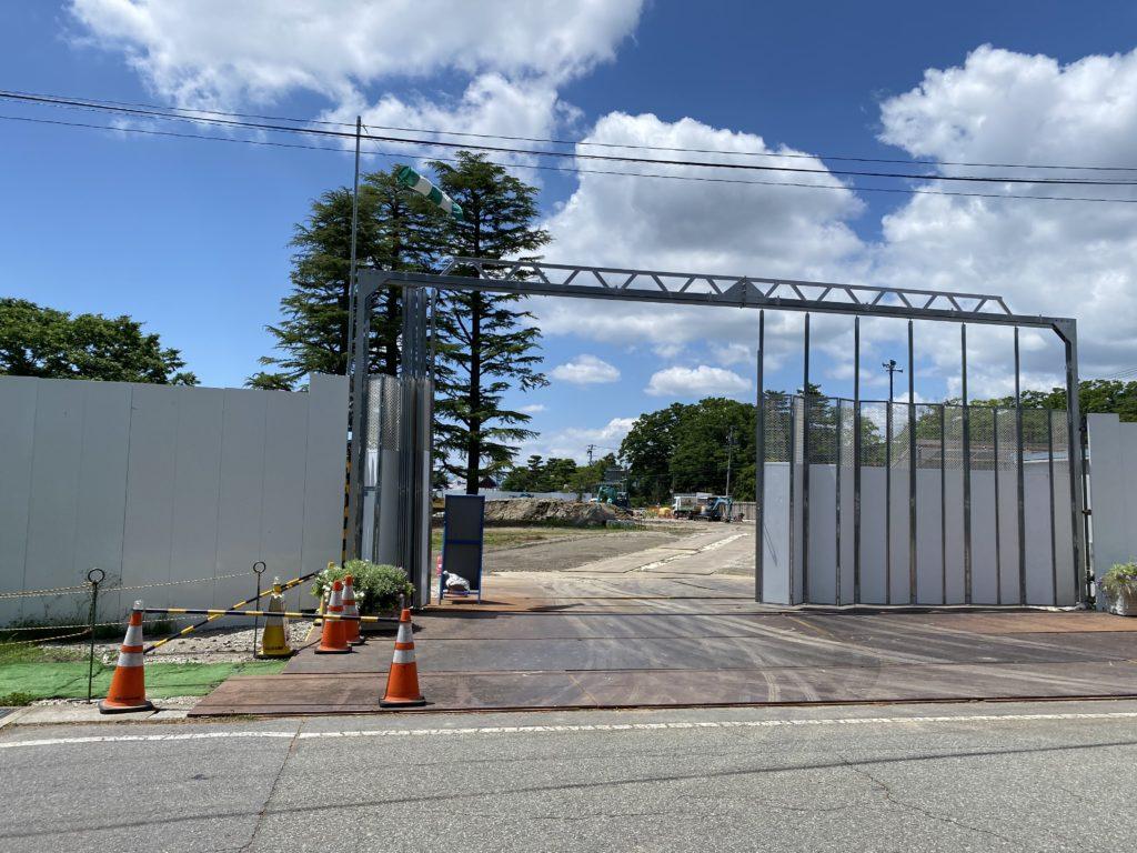 信濃美術館の建設現場の写真7