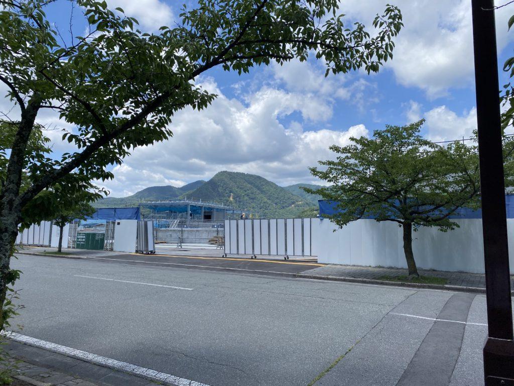 信濃美術館の建設現場の写真6